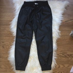 Pants - Leather joggers